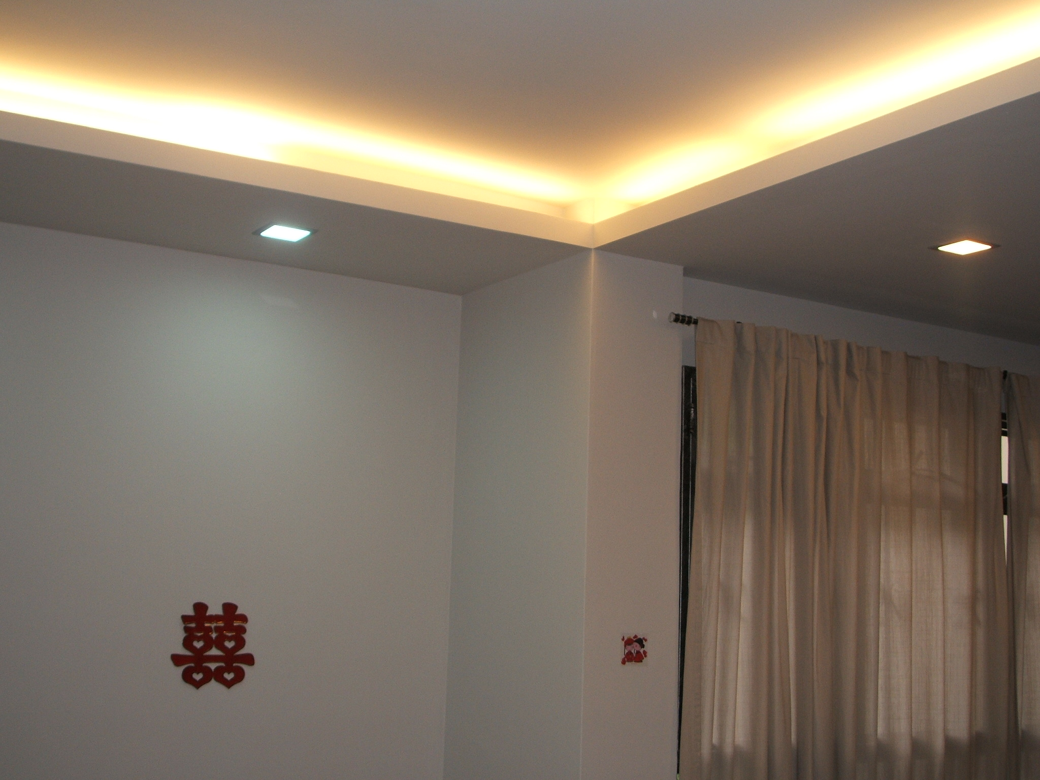 Accent Walls For Bedrooms Sufity Podwieszane Aranżacje Led