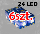 GU10 24 LED SMD Lamp - warm white x 6